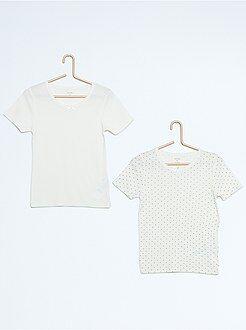 Ropa interior - Pack de 2 camisetas de algodón puro
