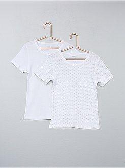 Ropa interior - Pack de 2 camisetas de algodón puro - Kiabi