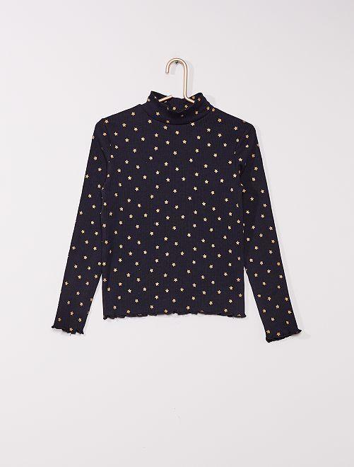 Pack de 2 camisetas de cuello alto eco-concepción                                                                 AZUL