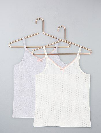 Pack de 2 camisetas de tirantes de lunares - Kiabi