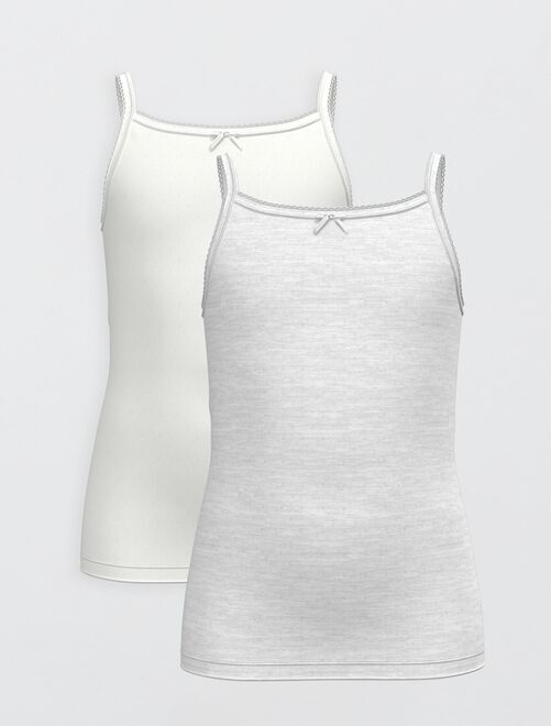 Pack de 2 camisetas de tirantes eco-concepción                             GRIS