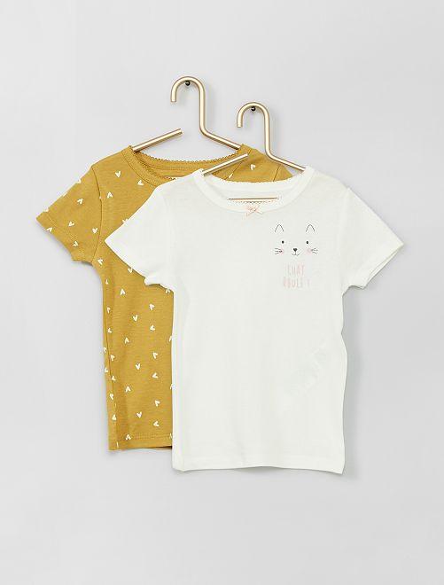 Pack de 2 camisetas eco-concepción                                         AMARILLO
