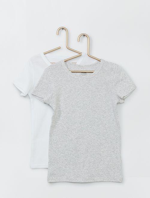 Pack de 2 camisetas eco-concepción                                         GRIS
