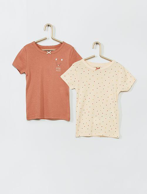 Pack de 2 camisetas eco-concepción                                         ROSA