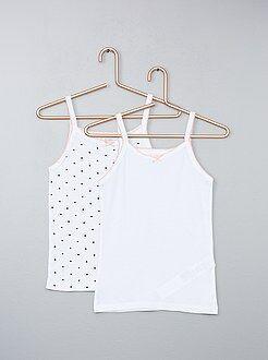 Pack de 2 camisetas sin mangas de algodón puro - Kiabi