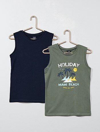 b0441d0cd Pack de 2 camisetas sin mangas de punto - Kiabi