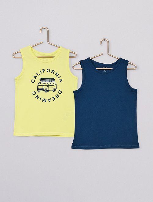 Pack de 2 camisetas sin mangas eco-concepción                                                                             AMARILLO