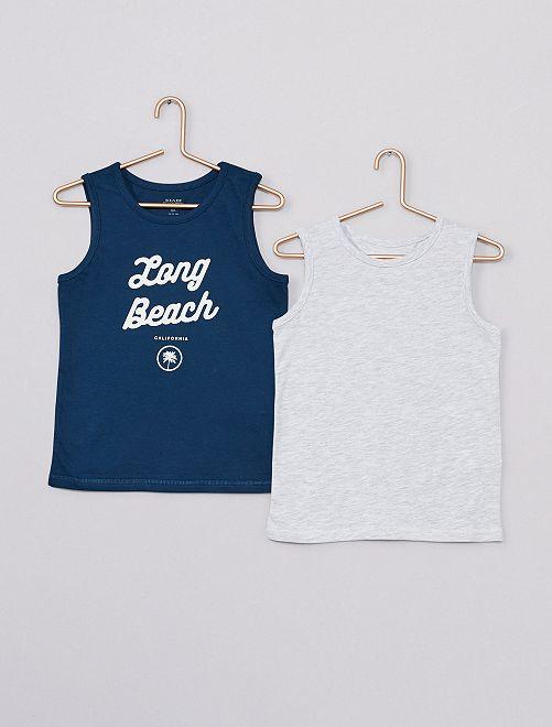 Pack de 2 camisetas sin mangas 'eco-concepción'                                                                             AZUL