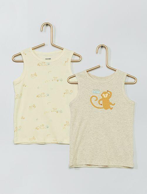 Pack de 2 camisetas sin mangas 'eco-concepción'                                         BEIGE