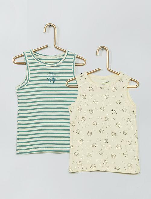 Pack de 2 camisetas sin mangas 'eco-concepción'                                         BLANCO