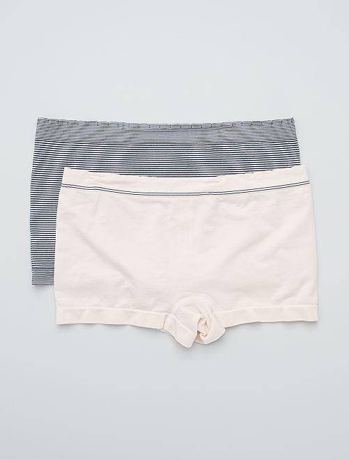 Pack de 2 culottes sin costuras 'Billet Doux'                                                                             BLANCO