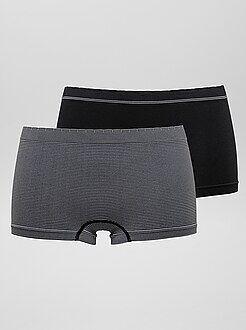 Lencería en lote - Pack de 2 culottes sin costuras 'Billet Doux' - Kiabi