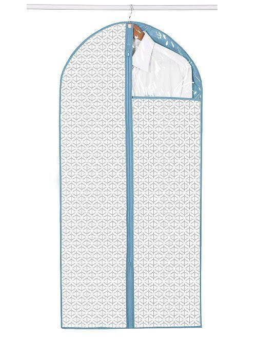 Pack de 2 fundas de tela para ropa                                         blanco/azul