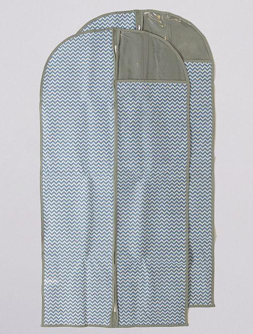 Pack de 2 fundas para ropa de 120 cm de largo                             GRIS