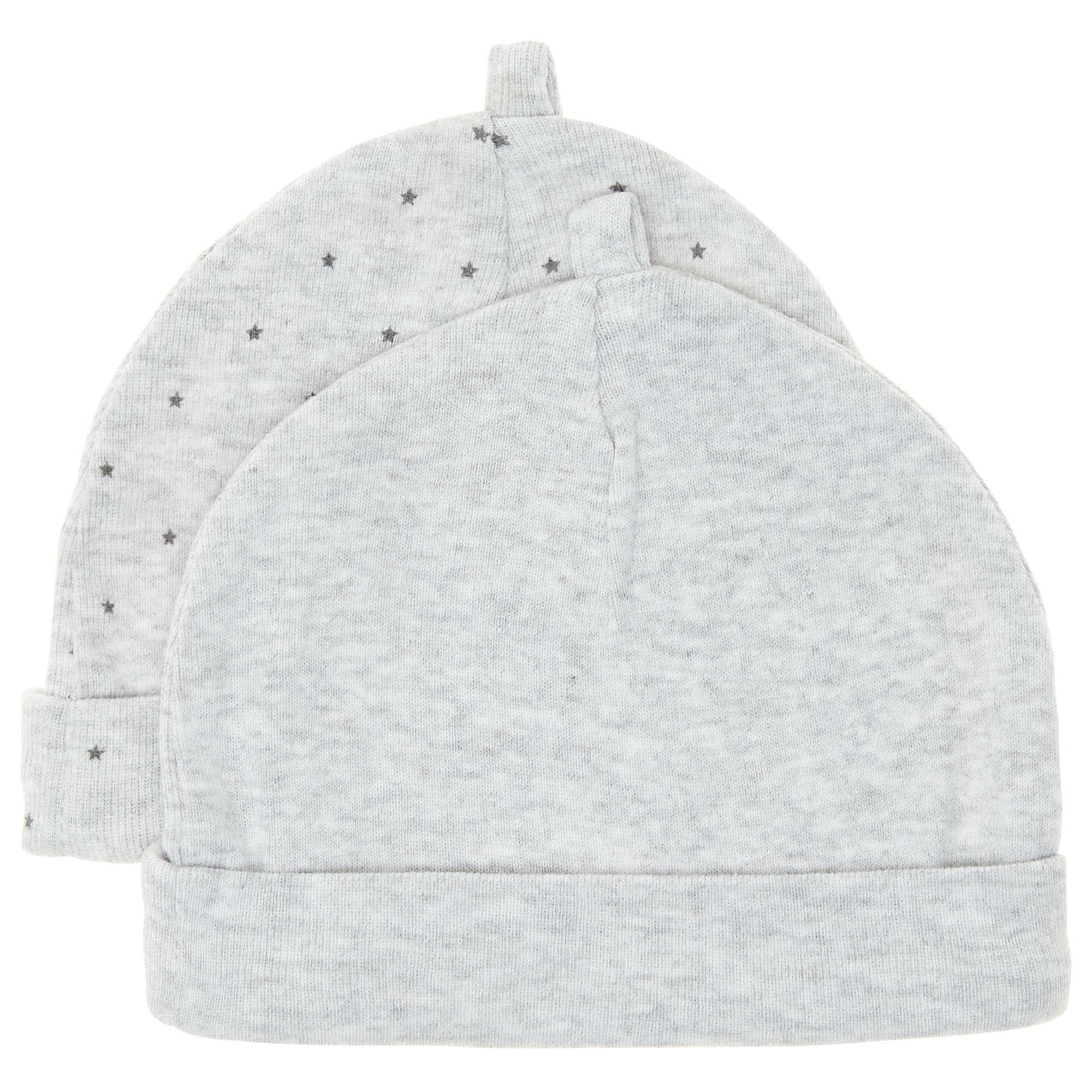 00218ae53 Pack de 2 gorros de algodón orgánico gris Bebé niño. Loading zoom. Haz clic  en la imagen para agrandar. zoom. Agregar a mi wishlist 4