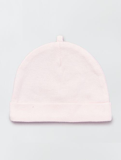 45d0da578 Pack de 2 gorros de algodón orgánico Bebé niño - gris - Kiabi - 4