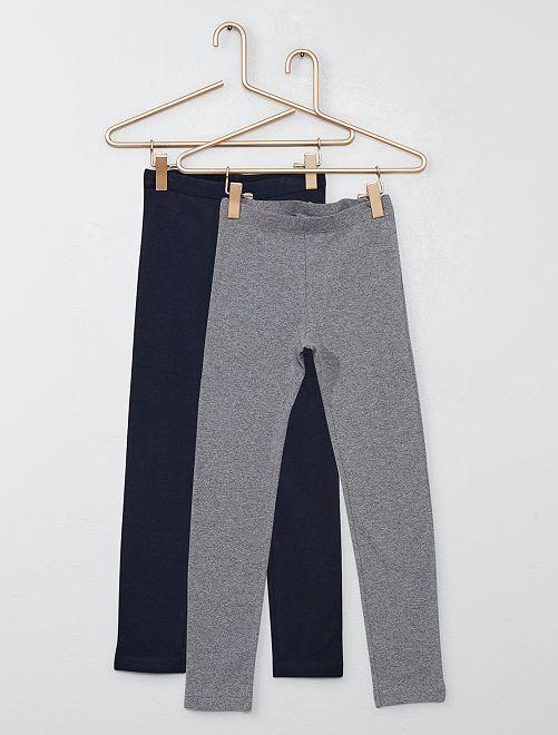 Pack de 2 leggings                                             azul/gris