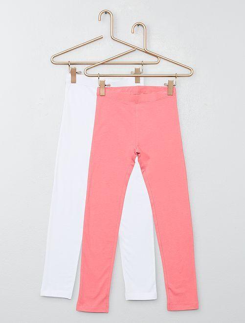 Pack de 2 leggings                                                                 blanco/rosa