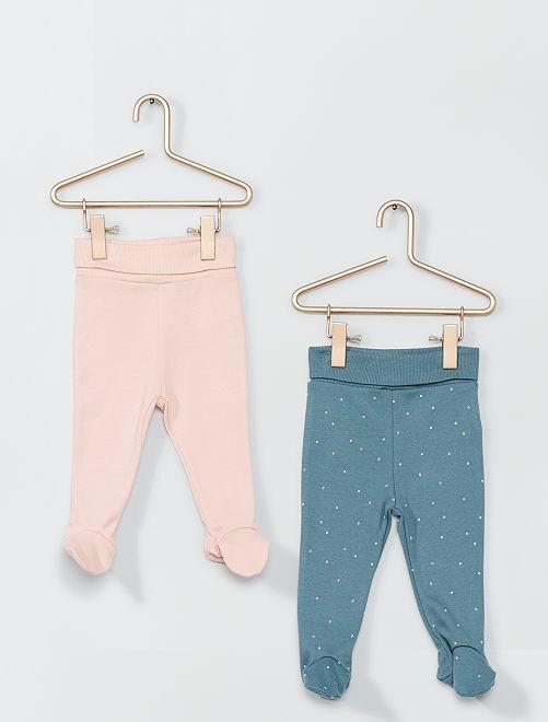 Pack de 2 leggings con pies eco-concepción                                         VERDE