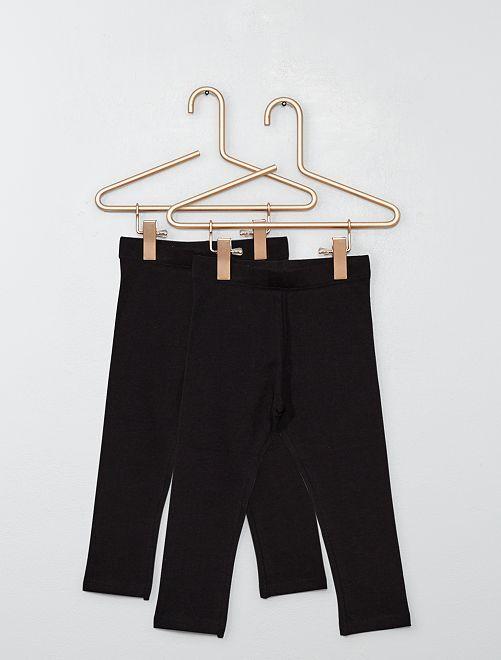 Pack de 2 leggings lisos                                                                 negro/negro