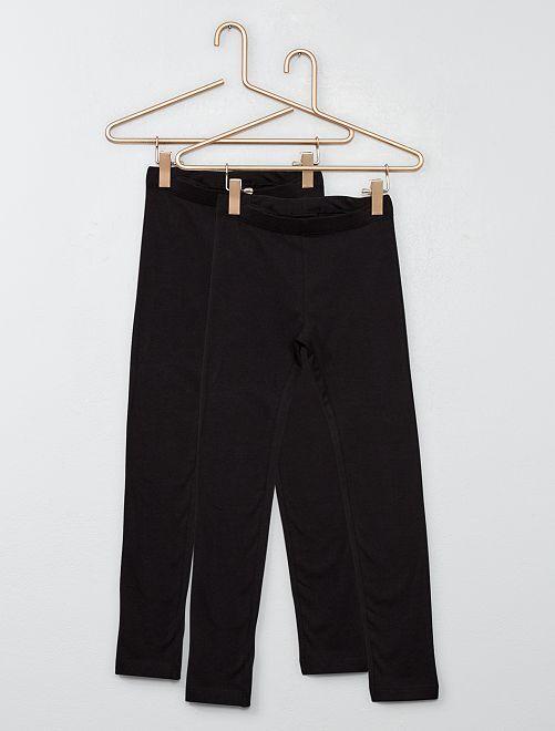 Pack de 2 leggings                                                                 negro/negro