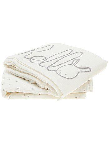 Pack de 2 mantas de algodón orgánico puro - Kiabi