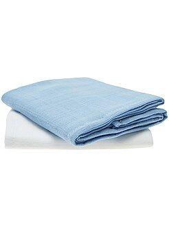 Peluches - Pack de 2 mantas para bebé de algodón orgánico - Kiabi