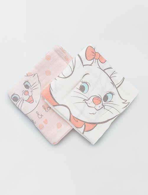 Pack de 2 mantas para bebé 'Marie'                             BLANCO