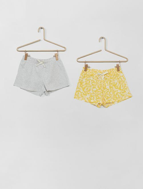 Pack de 2 pantalones cortos                                                                                         AMARILLO