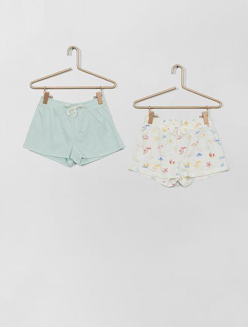 Pack de 2 pantalones cortos                                                                                         AZUL