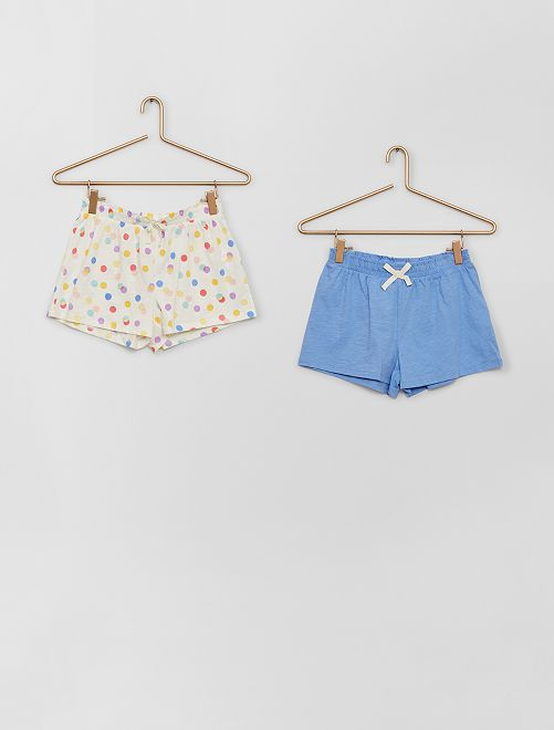 Pack de 2 pantalones cortos                                                                                         BEIGE