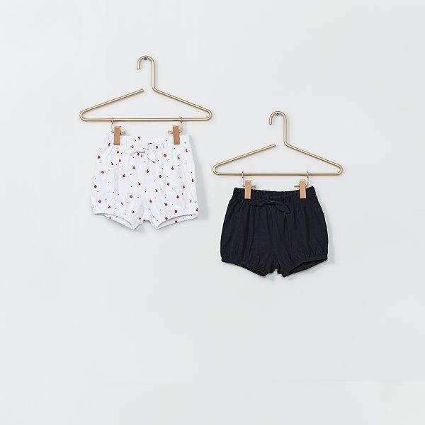 Pack De 2 Pantalones Cortos Bebe Nina Kiabi 3 00