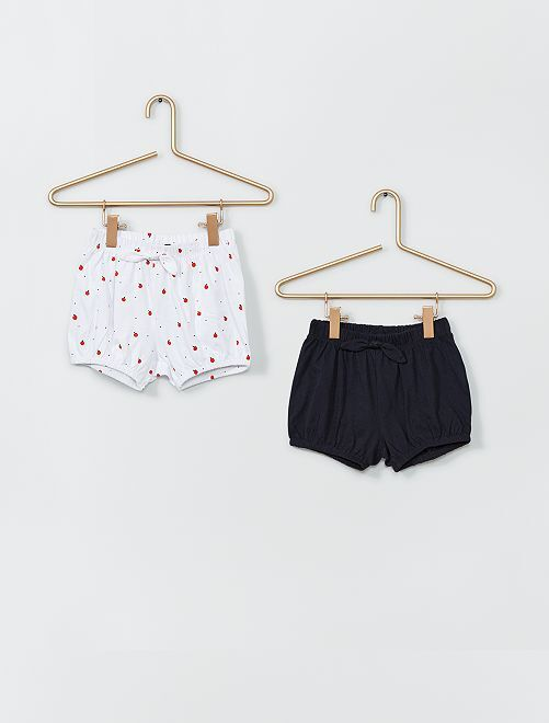 Pack de 2 pantalones cortos                                 BLANCO