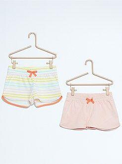 Shorts - Pack de 2 pantalones cortos de algodón