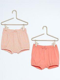 Shorts, bermudas - Pack de 2 pantalones cortos de playa de algodón