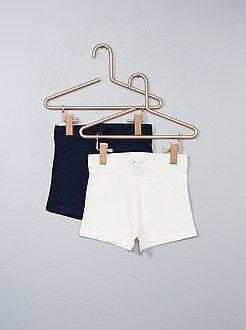 Pantalones cortos, short blanco - Pack de 2 pantalones cortos de punto - Kiabi