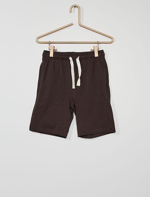 Pack de 2 pantalones cortos de punto                             NEGRO