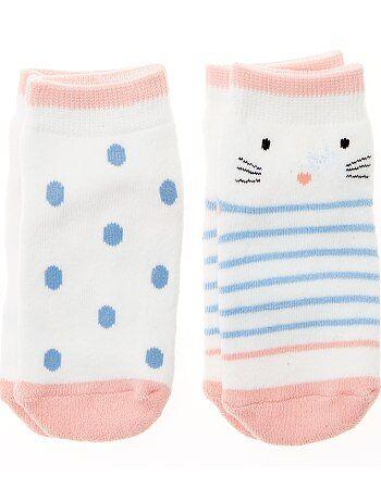 Pack de 2 pares de calcetines antideslizantes - Kiabi