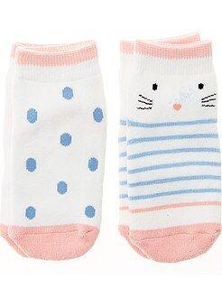 Niña 0-36 meses - Pack de 2 pares de calcetines antideslizantes - Kiabi