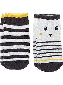 Calcetines, leotardos - Pack de 2 pares de calcetines antideslizantes