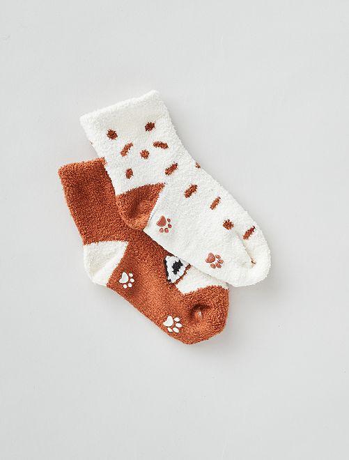 Pack de 2 pares de calcetines antideslizantes                                         AZUL