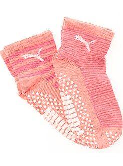Niña 3-12 años Pack de 2 pares de calcetines antideslizantes de 'Puma'