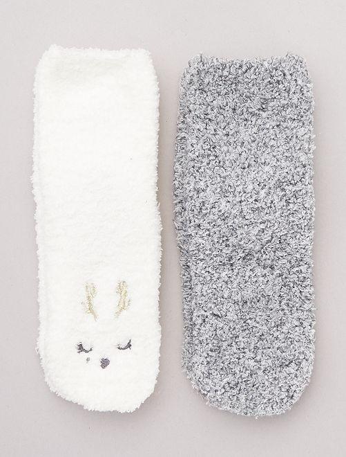 Pack de 2 pares de calcetines antideslizantes                                                                 GRIS