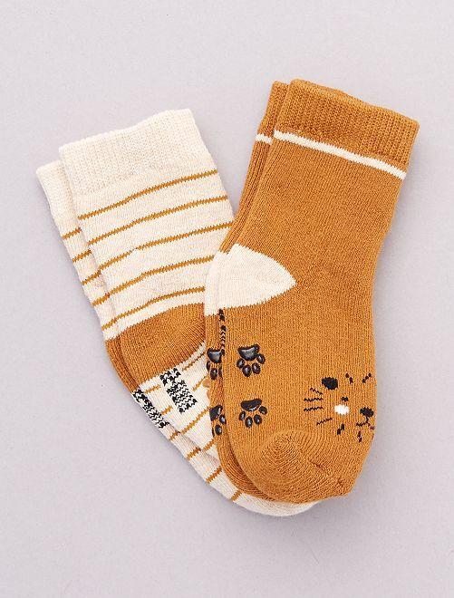 Pack de 2 pares de calcetines antideslizantes                                                                                                                 león