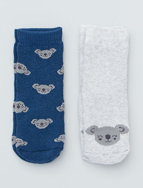 Pack de 2 pares de calcetines antideslizantes                                                                                                                 marino