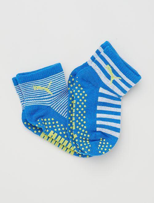 Pack de 2 pares de calcetines antideslizantes 'Puma'                                                     AZUL