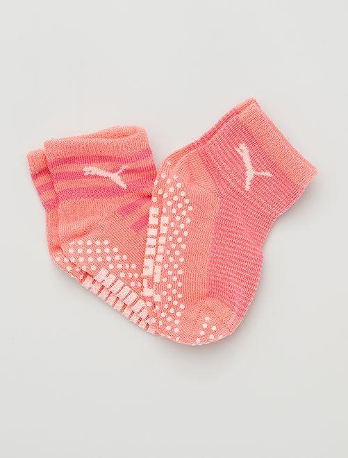Pack de 2 pares de calcetines antideslizantes 'Puma'                                                     ROSA
