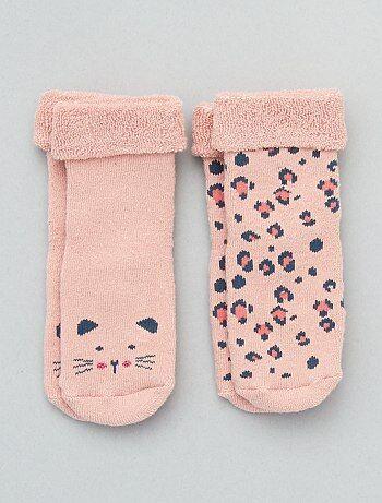 d53889bb7 Niño 0-36 meses - Pack de 2 pares de calcetines antideslizantes - Kiabi