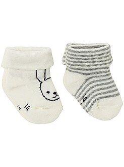 Niña 0-36 meses - Pack de 2 pares de calcetines con motivos - Kiabi