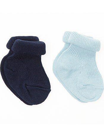 Pack de 2 pares de calcetines con vuelta - Kiabi